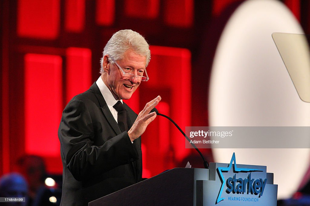 Former President Bill Clinton speaks during the 2013 Starkey Hearing Foundation's 'So the World May Hear' Awards Gala on July 28, 2013 in St. Paul, Minnesota.