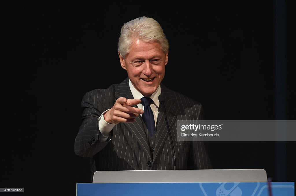 Former President <a gi-track='captionPersonalityLinkClicked' href=/galleries/search?phrase=Bill+Clinton&family=editorial&specificpeople=67203 ng-click='$event.stopPropagation()'>Bill Clinton</a> speaks during the Forbes' 2015 Philanthropy Summit Awards Dinner on June 3, 2015 in New York City.