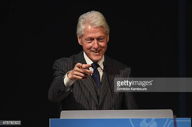 Former President Bill Clinton speaks during the Forbes' 2015 Philanthropy Summit Awards Dinner on June 3 2015 in New York City