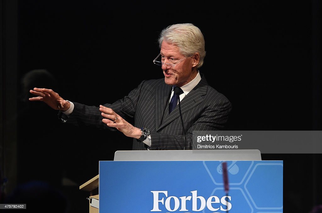 Former President Bill Clinton speaks during the Forbes' 2015 Philanthropy Summit Awards Dinner on June 3, 2015 in New York City.