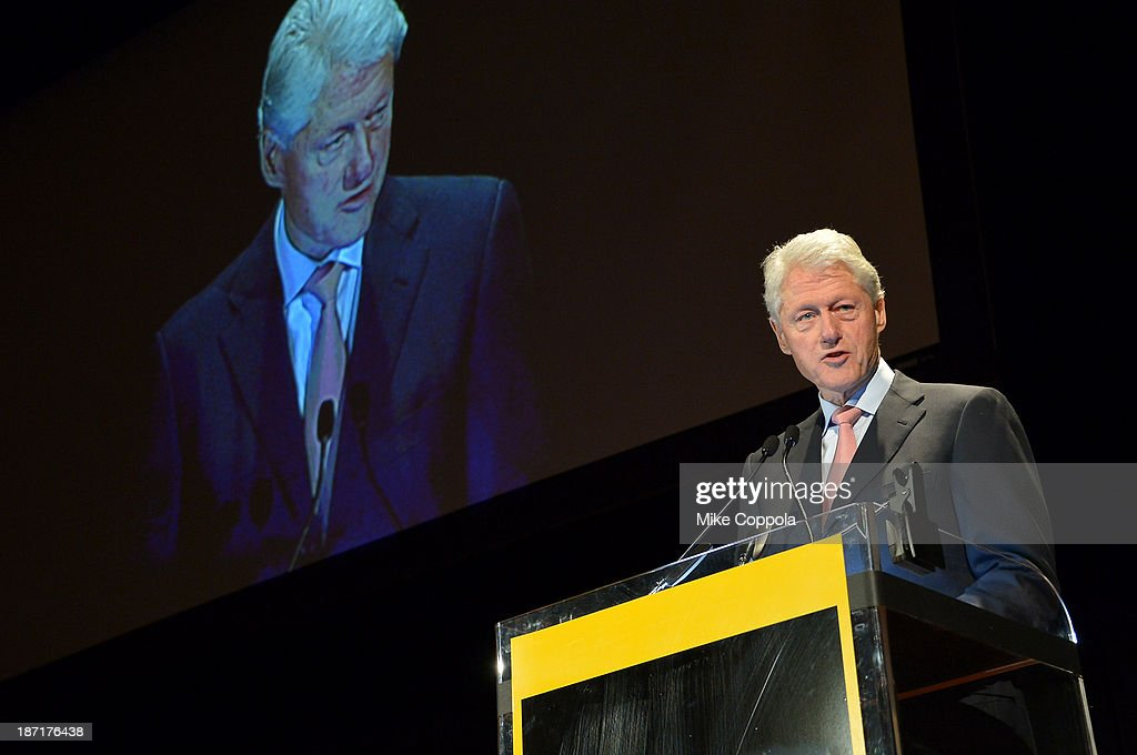 Former President <a gi-track='captionPersonalityLinkClicked' href=/galleries/search?phrase=Bill+Clinton&family=editorial&specificpeople=67203 ng-click='$event.stopPropagation()'>Bill Clinton</a> speaks onstage at the Annual Freedom Award Benefit hosted by the International Rescue Committee at the Waldorf-Astoria hotel on November 6, 2013 in New York City.