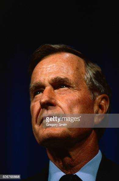 Former president Bush attends a dedication at the George R Brown Convention Center in Houston Texas The center is naming the newly completed George...