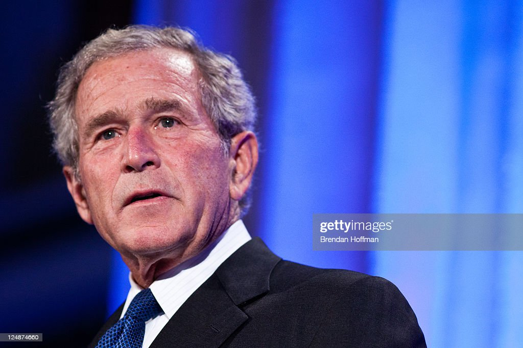 Former President <a gi-track='captionPersonalityLinkClicked' href=/galleries/search?phrase=George+W.+Bush&family=editorial&specificpeople=122011 ng-click='$event.stopPropagation()'>George W. Bush</a> speaks at the Summit to Save Lives on September 13, 2011 in Washington, DC. The event introduced a new initiative to screen women in developing countries for cervical and breast cancer.