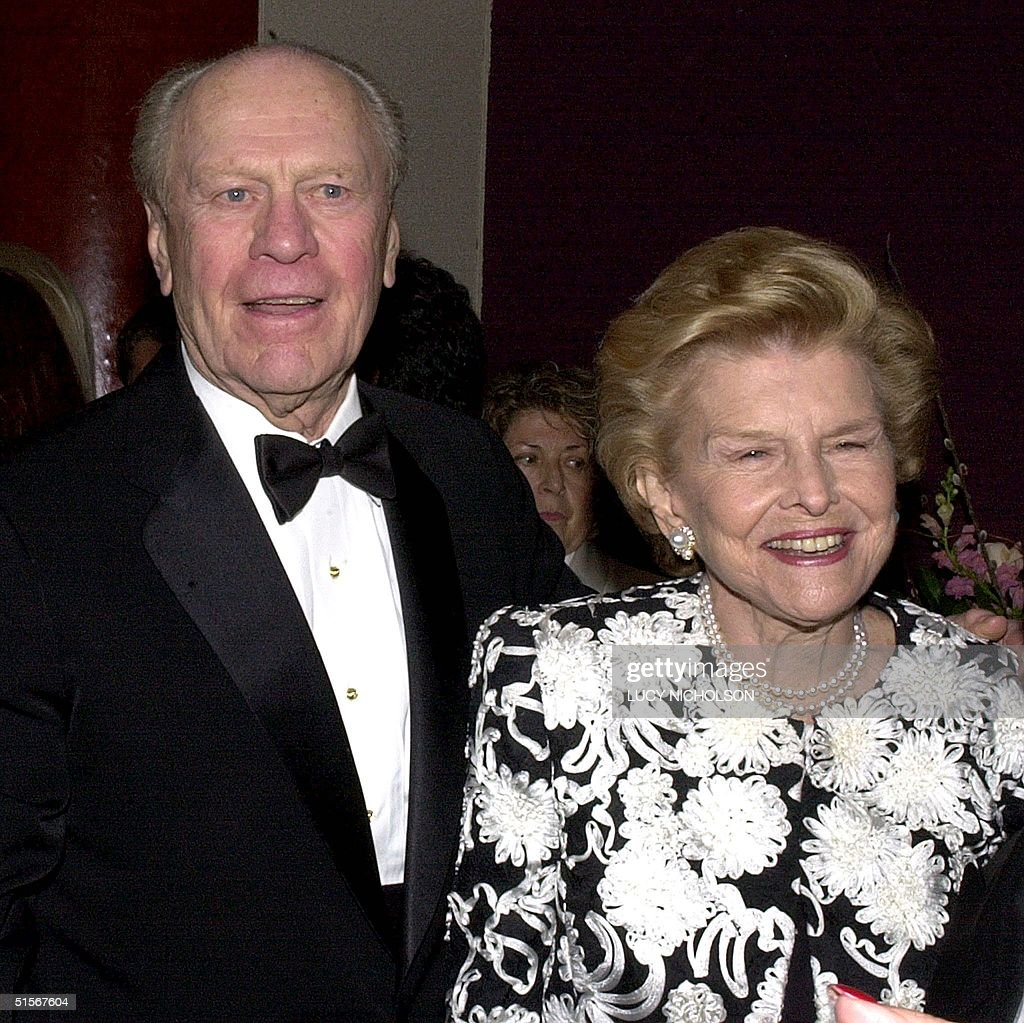 Former President Gerald Ford L And His Wife Betty Ford