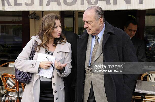 former President Jacques Chirac in Tulle after his book signing at the book fair of Brive for his essay Chaque Pas doit etre un but with the...