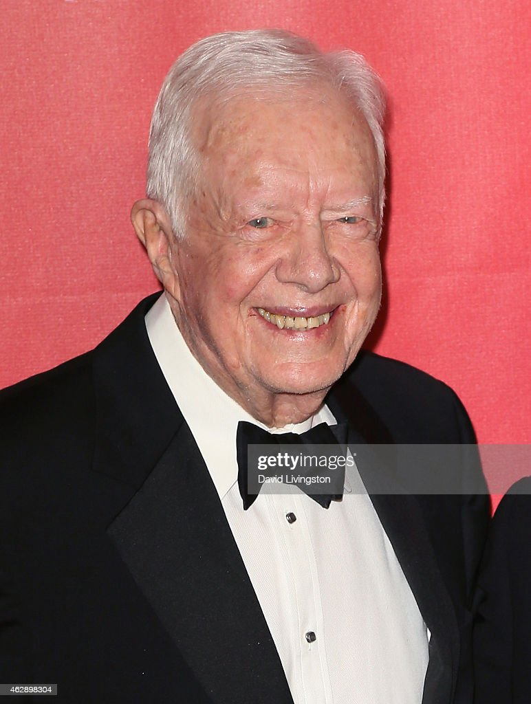 Former President Jimmy Carter attends the 2015 MusiCares Person of the Year Gala honoring Bob Dylan at the Los Angeles Convention Center on February 6, 2015 in Los Angeles, California.