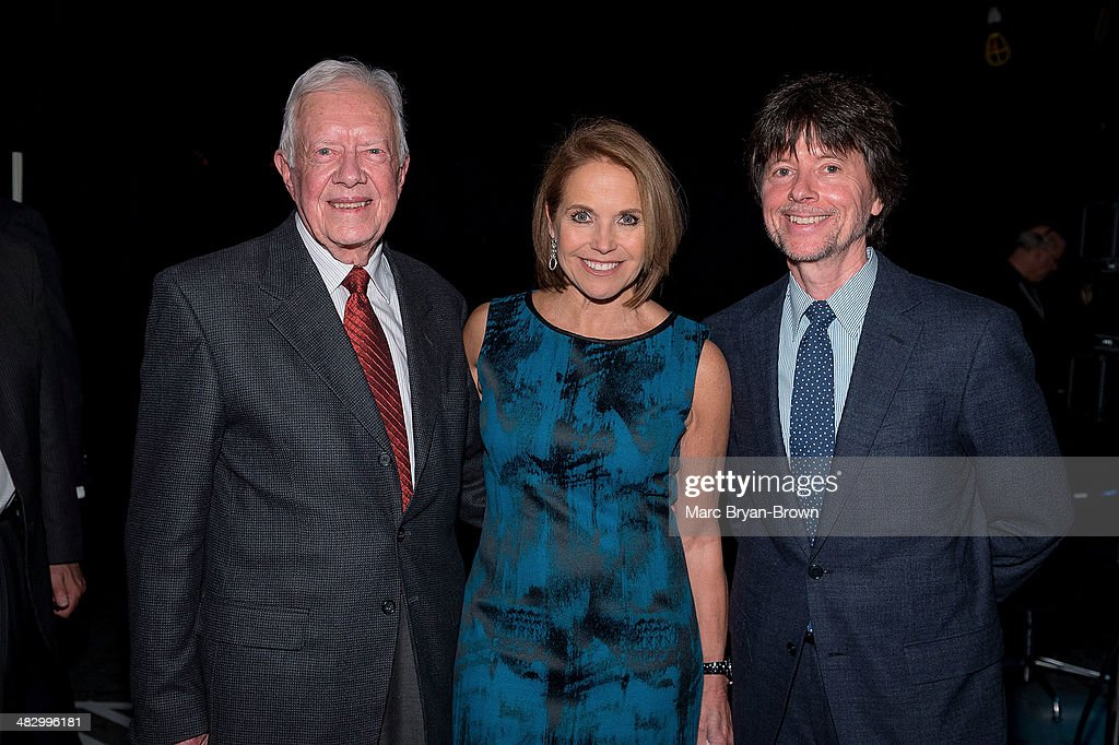 Former President <a gi-track='captionPersonalityLinkClicked' href=/galleries/search?phrase=Jimmy+Carter+-+US+President&family=editorial&specificpeople=93589 ng-click='$event.stopPropagation()'>Jimmy Carter</a>, <a gi-track='captionPersonalityLinkClicked' href=/galleries/search?phrase=Katie+Couric&family=editorial&specificpeople=202633 ng-click='$event.stopPropagation()'>Katie Couric</a> and <a gi-track='captionPersonalityLinkClicked' href=/galleries/search?phrase=Ken+Burns&family=editorial&specificpeople=220451 ng-click='$event.stopPropagation()'>Ken Burns</a> attend the 5th Annual Women In The World Summit at David H. Koch Theater, Lincoln Center on April 4, 2014 in New York City.