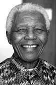 Former President Nelson Mandela of South Africa poses for a portrait on April 2 2009 in a hotel room at the OneOnly hotel in Cape Town South Africa...