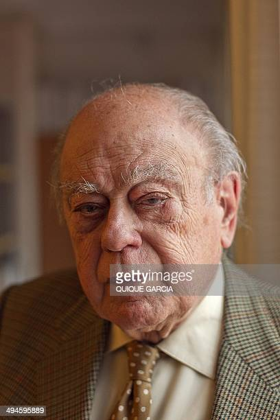 BOSQUE Former President of Catalonia Jordi Pujol poses during an interview with AFP in Barcelona on May 26 2014 For decades he was the flag carrier...