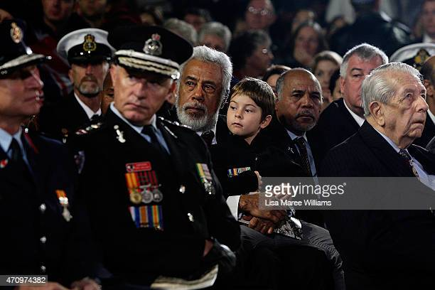 Former President of East Timor Xanana Gusmao attends dawn service at Martin Place on April 25 2015 in Sydney Australia Australians are celebrating...