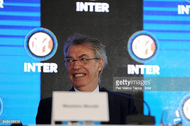 Former President of FC Internazionale Massimo Moratti speaks during the FC Internazionale Shareholder's Meeting on June 28 2016 in Milan Italy