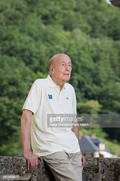 Former President of France Valery Giscard d'Estaing is photographed at his ancestral home in the village of Estaing which has been turned into a...