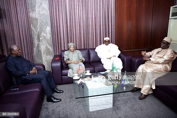 Former President of Ghana John Mahama President of Liberia Ellen Johnson Sirleaf President of Nigeria Muhammadu Buhari and President of Senegal Macky...