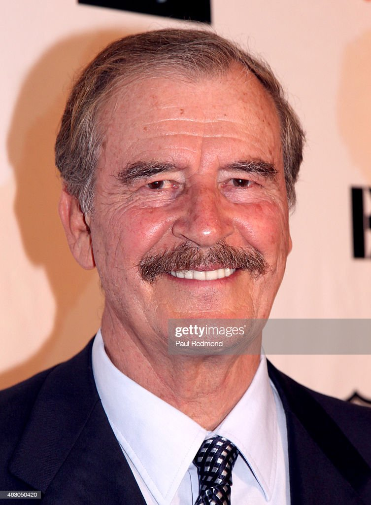 Former President of Mexico <a gi-track='captionPersonalityLinkClicked' href=/galleries/search?phrase=Vicente+Fox&family=editorial&specificpeople=202615 ng-click='$event.stopPropagation()'>Vicente Fox</a> attends the Sunset Marquis Hotel and Rock Against Trafficking GRAMMY After Party at Exchange LA on February 8, 2015 in Los Angeles, California.