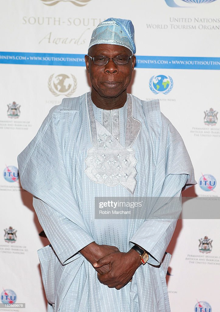 Former President of Nigeria Olusegun Obasanjo attends the 2012 South-South Awards at The Waldorf=Astoria on September 23, 2012 in New York City.