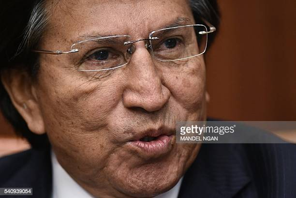 Former president of Peru Alejandro Toledo speaks during a discussion on Venezuela and the OAS at The Center for Strategic andInternational Studies...