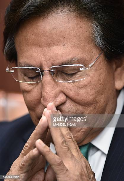 Former president of Peru Alejandro Toledo speaks during a discussion on Venezuela and the OAS at The Center for Strategic and International Studies...