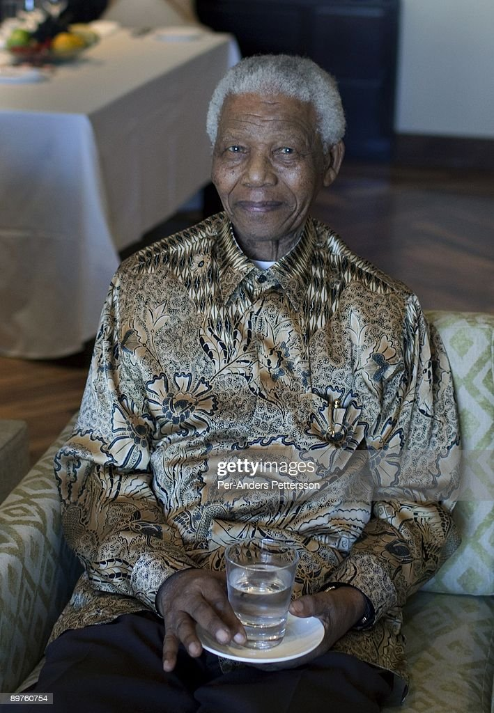 Former President of South Africa Nelson Mandela poses for a portrait on April 2, 2009 in his suite at the One&Only Resort in Cape Town, South Africa. The ANC freedom fighter was in prison for 27 years and released in 1990. He became President of South Africa after the first multiracial democratic elections in April 1994, holding office for five years until retiring after one term in 1999.