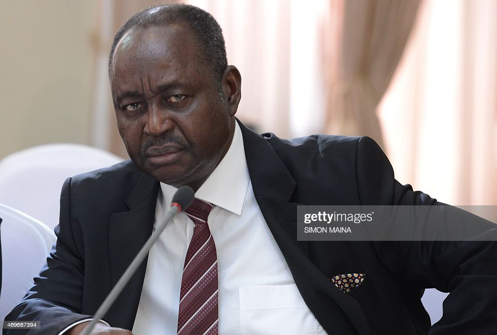 Former president of the Central African Republic Francois Bozize waits, on April 14, 2015 in Nairobi, prior to sign a ceasefire deal with his predecessor after months of negotiations mediated by Kenya. AFP PHOTO/SIMON MAINA