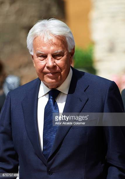 Former President of the Goberment of Spain Felipe Gonzalez during the 25th Anniversary Tribute Of 'Seville Universal Exhibition' on April 20 2017 in...