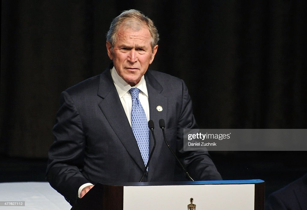 Former President of the United States George W. Bush attends the 2015 Father Of The Year Luncheon Awards at New York Hilton on June 18, 2015 in New York City.