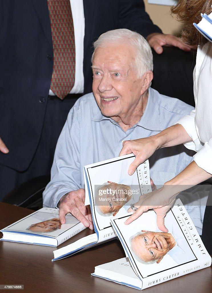 """Jimmy Carter Signs Copies Of """"A Full Life Reflections At Ninety"""""""