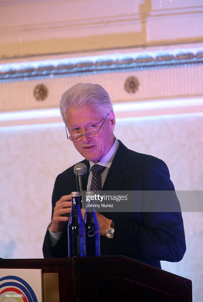 Former President William Jefferson 'Bill' Clinton speaks at The 16th Annual Wall Street Project 'Access To Captial' Luncheon at The Roosevelt Hotel on January 31, 2013, in New York City.