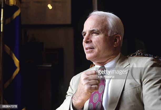 Former Presidential candidate and Republican Senator John McCain of Arizona in his Senate office