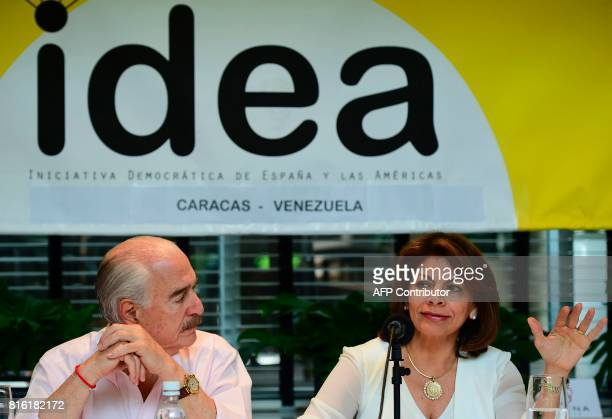 Former presidents Andres Pastrana of Colombia and Laura Chinchilla of Costa Rica invited by the Venezuelan opposition to act as observer for...