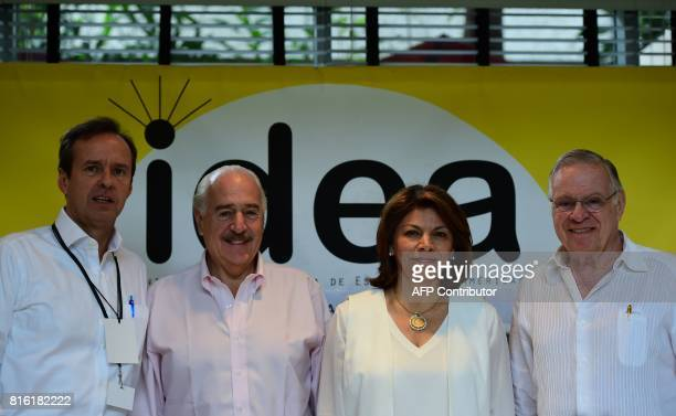 Former presidents Jorge Quiroga of Bolivia Andres Pastrana of Colombia Laura Chinchilla of Costa Rica and Miguel Angel Rodriguez of Costa Rica...