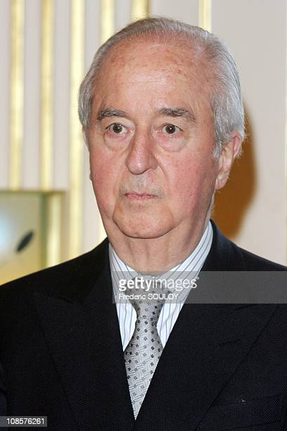 Former Prime Minister Edouard Balladur in Paris France on March 19 2008