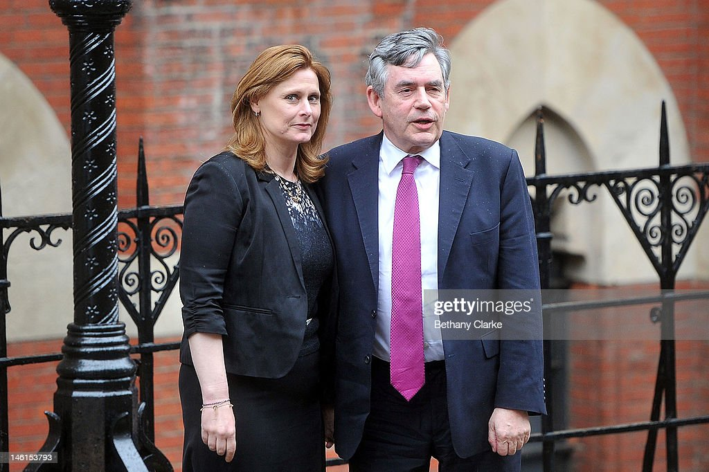 Former Prime Minister Gordon Brown and his wife Sarah Brown attend The Leveson Inquiry on June 11 2012 in London England This phase of the inquiry...