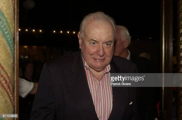 Former Prime Minister Gough Whitlam at the opening night of the rock musical 'Hair' at the Capitol Theatre in Sydney