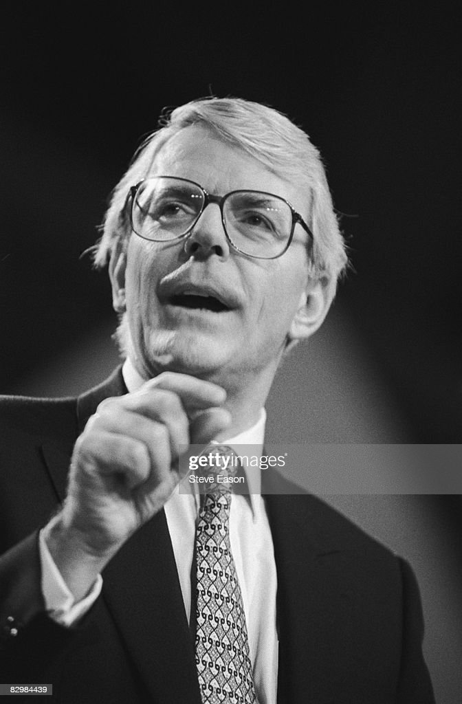 Former Prime Minister John Major speaks during the Conservative Party Conference at Blackpool, October 1997.