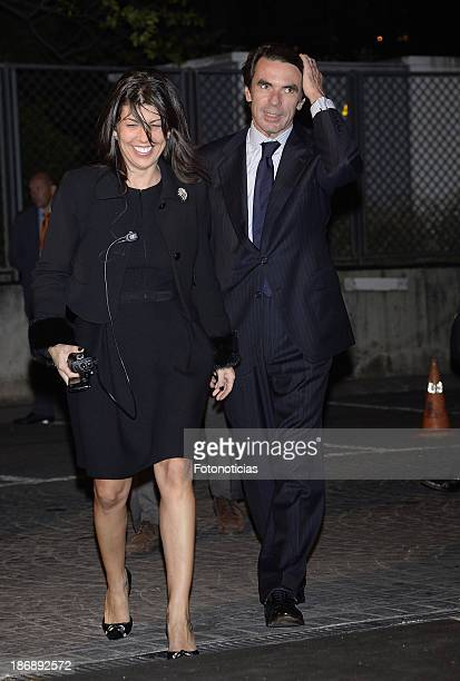 Former Prime Minister Jose Maria Aznar and guest attend 'La Razon' newspaper 15th anniversary party on November 4 2013 in Madrid Spain