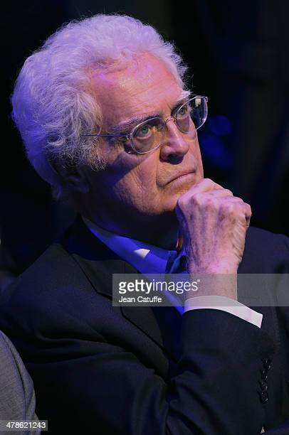 Former Prime Minister Lionel Jospin attends the last big meeting of Paris socialist mayoral candidate Anne Hidalgo before the elections at Cirque...