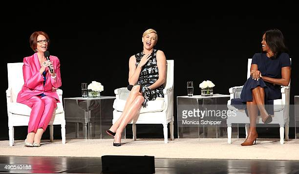 Former Prime Minister of Australia Julia Gillard Founder of the Charlize Theron Africa Outreach Project and UN Messenger of Pece Charlize Theron and...