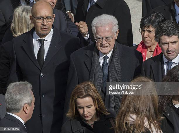 Former Prime Minister of France Lionel Jospin at the solemn homage ceremony for Mario Soares at Monastery of Jeronimos on January 10 2017 in Lisbon...