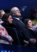Former Prime Minister of Lebanon Najib Mikati attends the Opening Ceremony of the 2014 Winter Olympic Games at the Fisht Olympic Stadium on February...