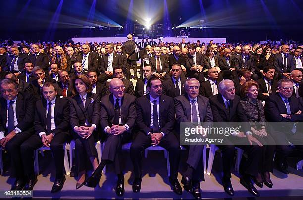 Former Prime Minister of Lebanon Saad Hariri son of Rafic Hariri attends to mark the tenth anniversary of the assassination of the former PM Rafic...