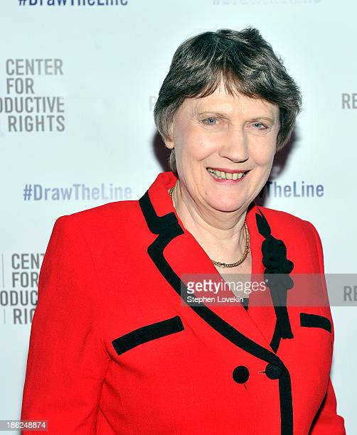 Former Prime Minister of New Zealand Helen Clark attends the Center for Reproductive Rights 2013 Gala at Jazz at Lincoln Center on October 29 2013 in...
