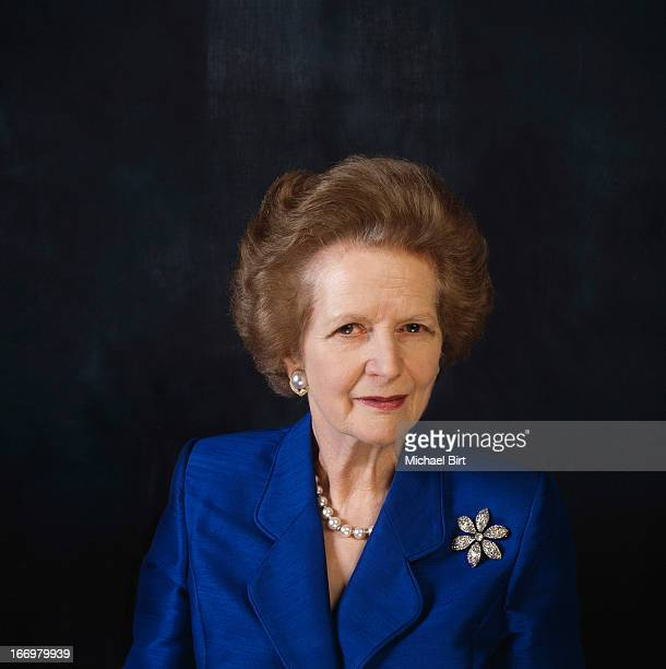 Former Prime minister of the United Kingdom Margaret Thatcher is photographed on September 5 1995 in London England