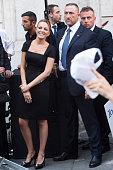 Former Prime Minister Silvio Berlusconi's new girlfriend Francesca Pascale attends a ProBerlusconi rally outside his Rome residence Palazzo Grazioli...