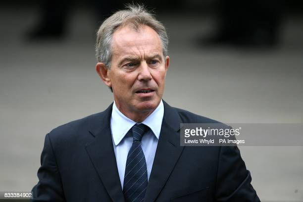 Former Prime Minister Tony Blair arrives at the Service of Thanksgiving for the life of Diana Princess of Wales at the Guards' Chapel London PRESS...