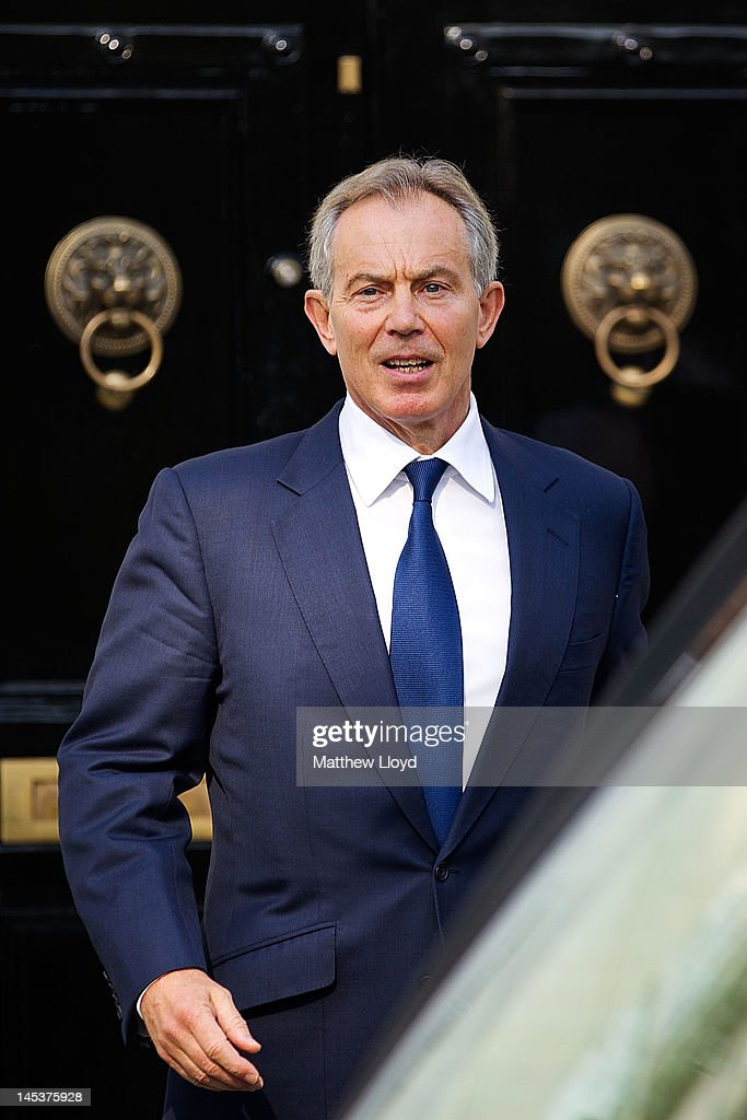 Former Prime Minister Tony Blair leaves his home en route to appear at the Leveson Inquiry on May 28 2012 in London England The Inquiry will be...