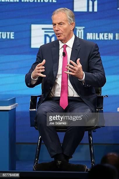 Former Prime Minister Tony Blair speaks onstage at the 2016 Milken Institute Global Conference on May 03 2016 in Beverly Hills California