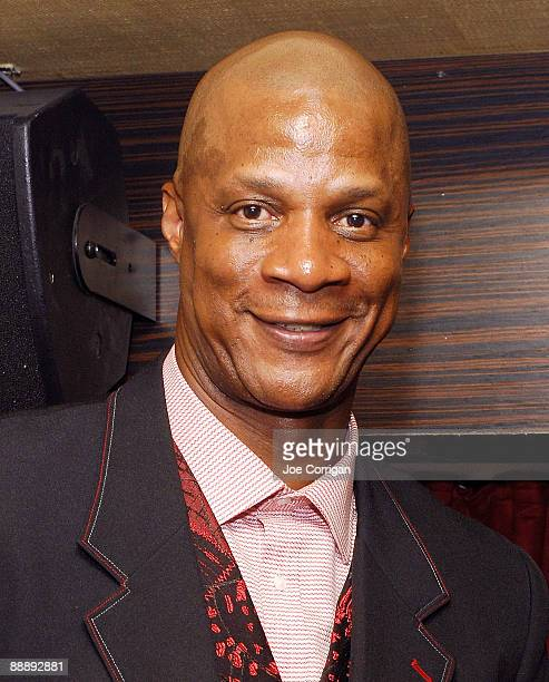 Former pro Baseball player Darryl Strawberry attends the 'Straw Finding My Way' book release party at Hawaiian Tropic Zone on July 7 2009 in New York...