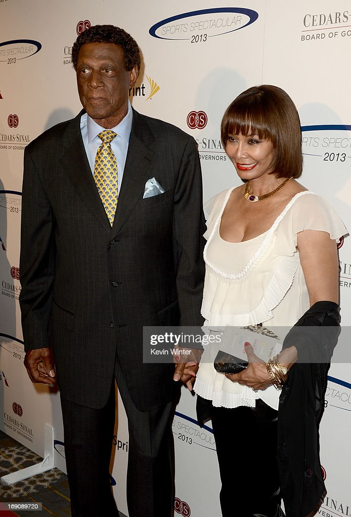 Former pro basketball player Elgin Baylor and wife Elaine attend the 28th Anniversary Sports Spectacular Gala at the Hyatt Regency Century Plaza on May 19, 2013 in Century City, California.