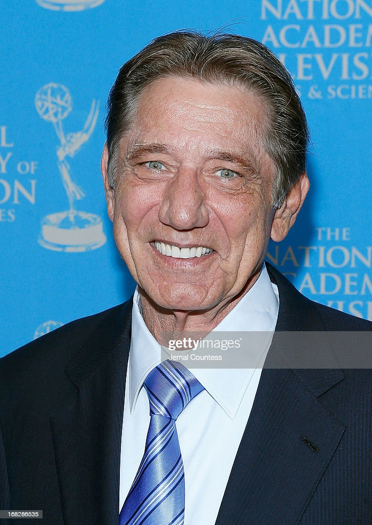Former Pro Football Player <a gi-track='captionPersonalityLinkClicked' href=/galleries/search?phrase=Joe+Namath&family=editorial&specificpeople=91230 ng-click='$event.stopPropagation()'>Joe Namath</a> attends the 34th Annual Sports Emmy Awards Reception at Frederick P. Rose Hall, Jazz at Lincoln Center on May 7, 2013 in New York City.
