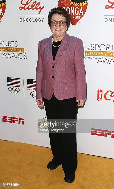 Former pro tennis player Billie Jean King attends the 2nd Annual Sports Humanitarian of the Year Awards at the Conga Room on July 12 2016 in Los...